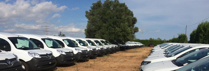 Campa de RENAULT con coches reparados por LANDICARS BALEARS